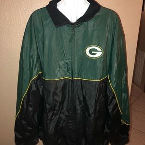 GREEN BAY PACKERS NFL THICK RAIN JACKET XL